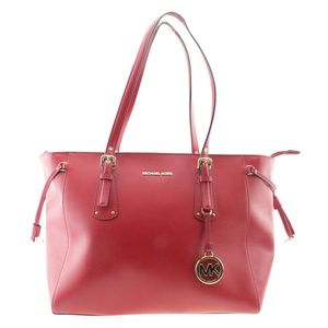Michael Kors Voyager Medium Red Tote 167668